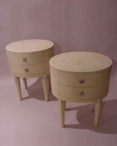 Pair of Parchment Side Tables