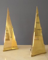 Pair of Triangular Table Lamps