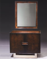 Two Door Cabinet and Mirror