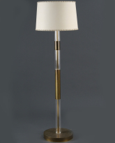 Lucite and Brass Floor Lamp