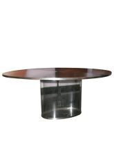 Steel and Acrylic Dining Table