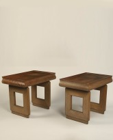 Pair of Limed Oak Side Tables