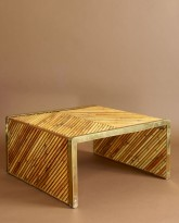 Bamboo and Brass Coffee Table
