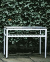 The Dominican Side Table in Aluminum