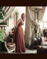 Model in Brown Dior in Dior's Paris Home