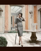 Jacqueline de Ribes in Gray Dior Suit, 1959