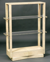 Crackle Lacquer Etagere
