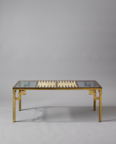 Feather and Glass Backgammon Table