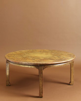 Round Gold Leaf and Lacquer Low Table