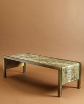 Patinated Brass Coffee Table