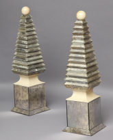 Pair of Mirrored Obelisks