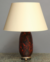 Lacquered and Carved Table Lamp