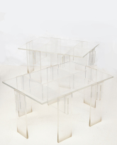 Pair of Lucite Low Tables