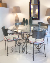 Steel Dining Table and Chairs