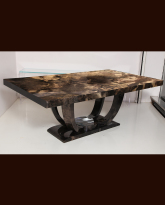 Large Lacquered Parchment Dining Table