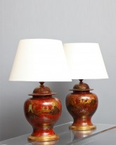 Pair of Ceramic Lamps