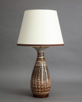 Karnak Table Lamp in Agateware