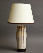 Bulldog Table Lamp in Devonshire Cream