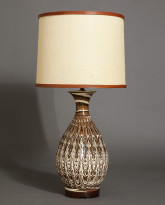 Onion Table Lamp in Agateware