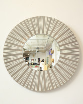 Palladium and Pearl Radiating Mirror, 2017