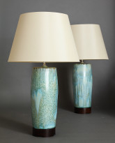 Pair of Bulldog Table Lamps in Melon