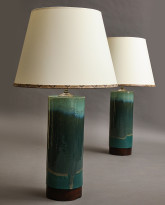Pair of Cannula Table Lamps in Verdant Meadow