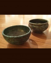 Two Raku Ceramic Bowls