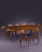 Dining Table and Klismos Chairs