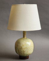 Moon Flask Table Lamp in Lichen