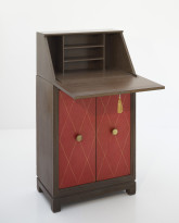 Mahogany and Leather Secretary