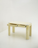 Lacquered Leather Side Table