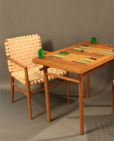 Backgammon Table and Chairs