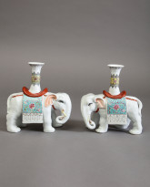 Pair of Chinese elephants