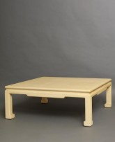 Low Lacquered Linen Table